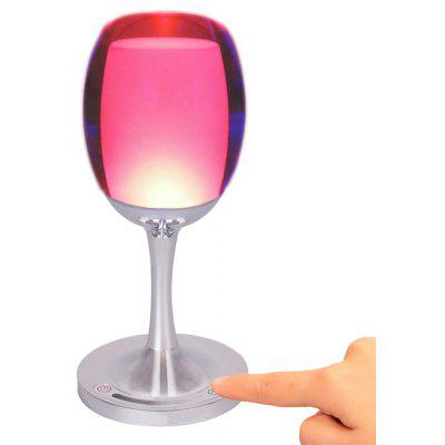 Dimmable Touch Sensor Cordless LED Table Lamp Wine Cup Desk Decor Colorful Light for Home Bar Festival Birthday Christma