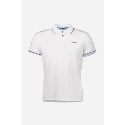 Men Summer Sports T-shirt with Turn-down Collar