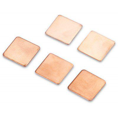 5PCS 15 x 15 x 0.6mm Copper Cooling Pad for Display Card