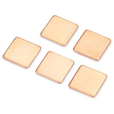 5PCS 15 x 15 x 1.2mm Copper Cooling Pad for Display Card