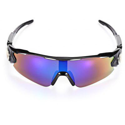 Buy BLACK FRAME + PURPLE LENS Outdoor Cycling Shock Resistant Explosion-proof Sunglasses for $5.39 in GearBest store
