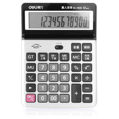 Deli 1530 12bit Number Calculator