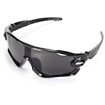 Buy BRIGHT BLACK+GREY Trendy Sports Style Cycling Sunglasses for $6.74 in GearBest store