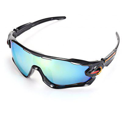 Buy BLACK+BLUE+GREEN Trendy Sports Style Cycling Sunglasses for $4.99 in GearBest store