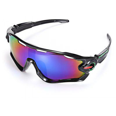 Buy BLACK FRAME + PURPLE LENS Trendy Sports Style Cycling Sunglasses for $6.74 in GearBest store