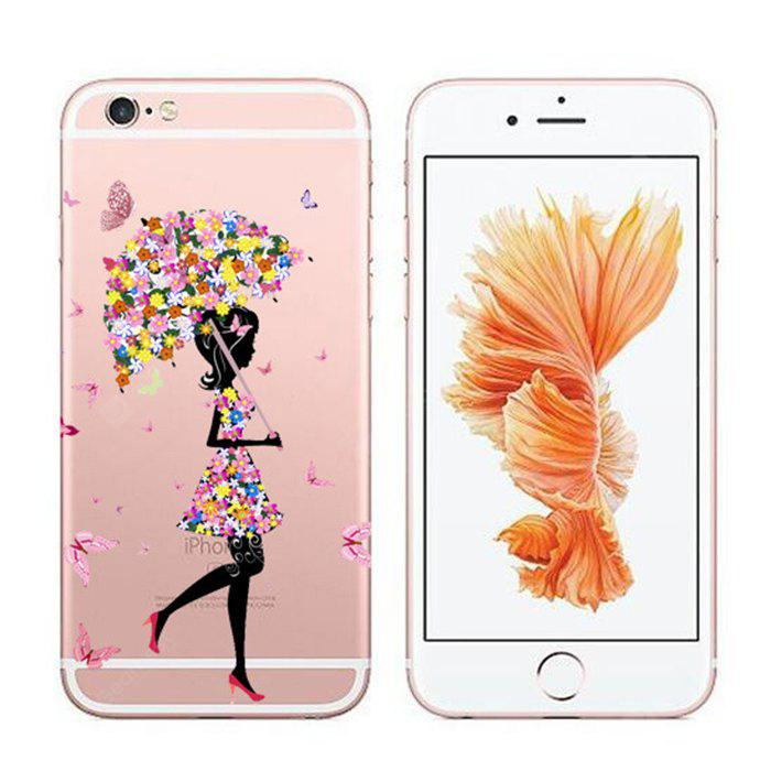 Butterfly Pretty Girl Printing TPU Soft Phone Case Protector for iPhone 6 / 6S
