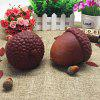 1pc PU Pine Nut Slow Rising Jumbo Squishy Toy - BROWN