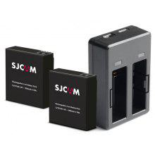 SJCAM Dual Slot Charging Dock with Double Back-up Batteries