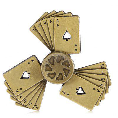 Three-blade Poker Alloy ADHD Fidget Spinner