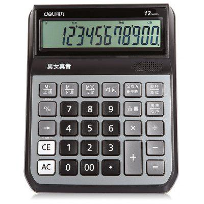 Deli 1555 12bit Number Talking Calculator