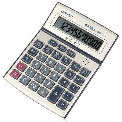 Deli 1528 12-digit Talking Calculator