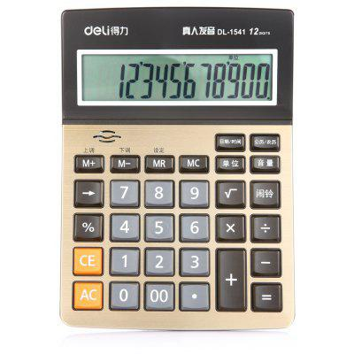 Deli 1541A 12bit Number Talking Calculator