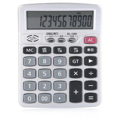 Deli 1268 12bit Number Talking Calculator