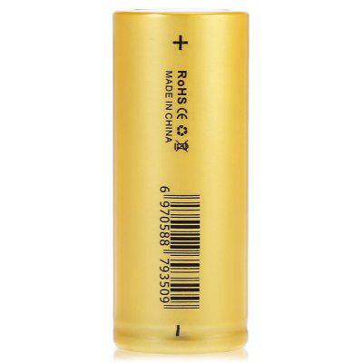 Geteed 26650 Li-ion Rechargeable BatteryBatteries<br>Geteed 26650 Li-ion Rechargeable Battery<br><br>Battery: 26650<br>Battery Type: Lithium-ion<br>Brand: Geteed<br>Capacity (mAh): 3500mAh<br>Charge Current: 3500mA<br>Charging Time.: 8 Hours<br>Discharge Current: 60000mA<br>Head Type: Button Top<br>Max. Discharge Current: 80000mA<br>Package Contents: 1 x Geteed 26650 Li-ion Battery<br>Package size (L x W x H): 3.50 x 3.50 x 7.50 cm / 1.38 x 1.38 x 2.95 inches<br>Package weight: 0.1200 kg<br>Product size (L x W x H): 2.60 x 2.60 x 6.50 cm / 1.02 x 1.02 x 2.56 inches<br>Product weight: 0.0850 kg<br>Protected: No<br>Rechargeable: Yes<br>Type: Battery<br>Voltage(V): 3.7V