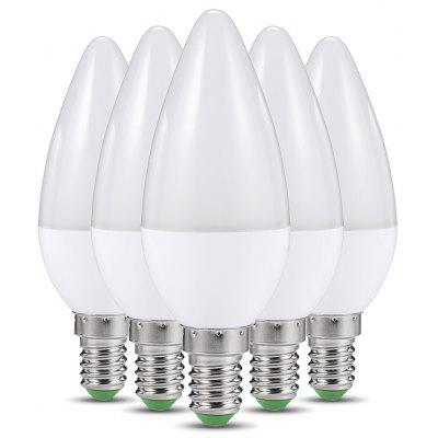 Buy WARM WHITE LIGHT C37 5PCS LED E14 Candle Bulb for $14.92 in GearBest store