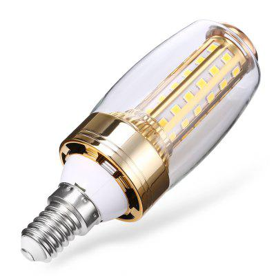 E14 12W 2835 SMD 58 LEDs Corn BulbGlobe bulbs<br>E14 12W 2835 SMD 58 LEDs Corn Bulb<br><br>Available Light Color: Warm White<br>CCT/Wavelength: 3500K<br>Emitter Types: SMD 2835<br>Features: Long Life Expectancy, Energy Saving<br>Function: Home Lighting, Commercial Lighting<br>Holder: E14<br>Luminous Flux: 580Lm<br>Output Power: 12W<br>Package Contents: 1 x E14 12W 2835 SMD 58 LEDs Corn Bulb<br>Package size (L x W x H): 6.00 x 6.00 x 12.00 cm / 2.36 x 2.36 x 4.72 inches<br>Package weight: 0.1000 kg<br>Product size (L x W x H): 3.00 x 3.00 x 10.00 cm / 1.18 x 1.18 x 3.94 inches<br>Product weight: 0.0620 kg<br>Sheathing Material: ABS, Aluminum<br>Total Emitters: 58<br>Type: Corn Bulbs<br>Voltage (V): AC 180 - 220V