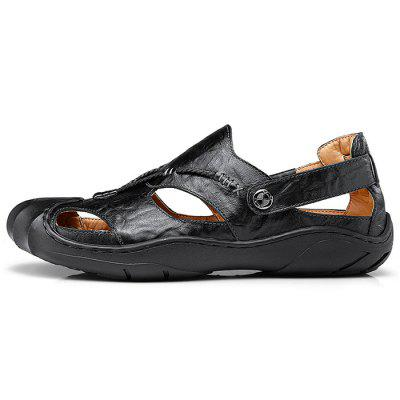 Genuine Leather Casual Sandals for MenMens Sandals<br>Genuine Leather Casual Sandals for Men<br><br>Contents: 1 x Pair of Shoes<br>Materials: Genuine Leather<br>Occasion: Casual<br>Package Size ( L x W x H ): 33.00 x 20.00 x 13.00 cm / 12.99 x 7.87 x 5.12 inches<br>Package Weights: 0.82kg<br>Seasons: Summer<br>Style: Leisure, Fashion, Comfortable<br>Type: Sandals