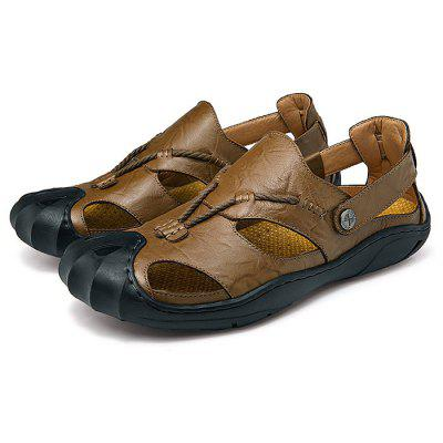 Men Wearable Genuine Leather Rubber Soles Sandals