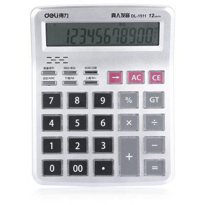 Deli DL - 1511 Talking Calculator 12 Calcul Calculateur