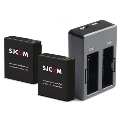 SJCAM, Dual-Lade-Dock mit doppelten Back-up-Batterien