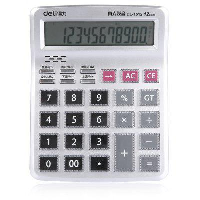 Deli DL - 1512 Talking Calculator 12 Calculateur de chiffres