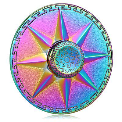 Round Rainbow Eight Pointed Star Fidget SpinnerFidget Spinners<br>Round Rainbow Eight Pointed Star Fidget Spinner<br><br>Center Bearing Material: Stainless Steel<br>Color: Colorful<br>Frame material: Zinc Alloy<br>Package Contents: 1 x Fidget Spinner, 1 x Box<br>Package size (L x W x H): 8.50 x 8.50 x 2.50 cm / 3.35 x 3.35 x 0.98 inches<br>Package weight: 0.0900 kg<br>Product size (L x W x H): 5.80 x 5.80 x 1.40 cm / 2.28 x 2.28 x 0.55 inches<br>Product weight: 0.0570 kg<br>Type: Rainbow