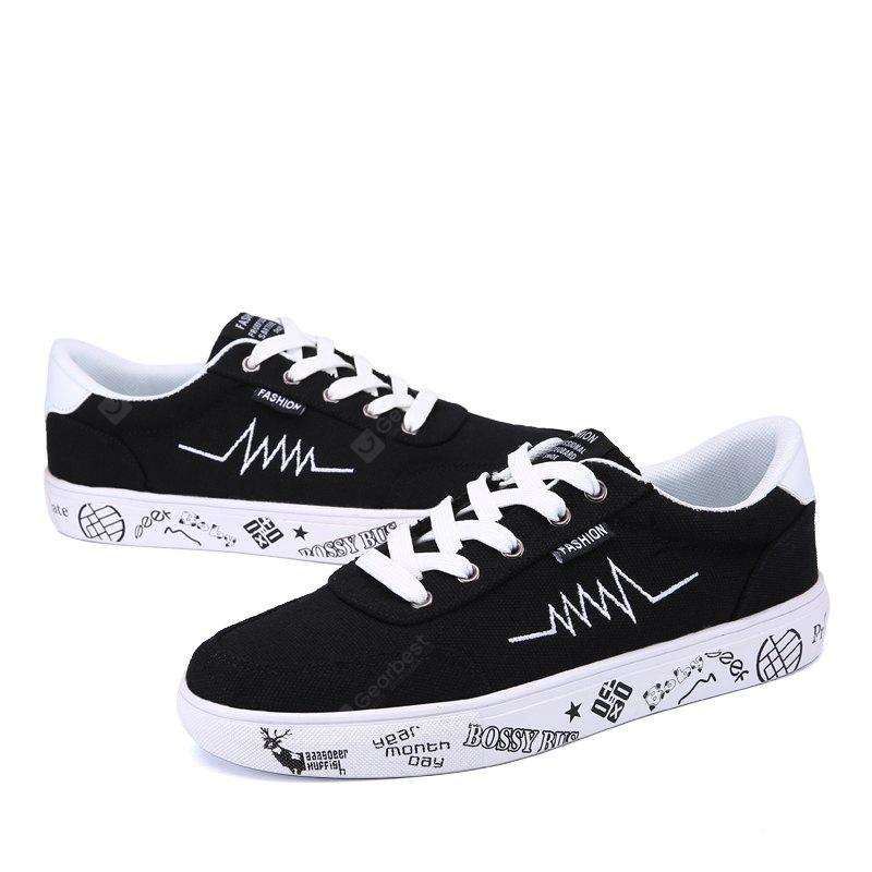 Men Offbeat Graffiti Fashion Canvas Shoes