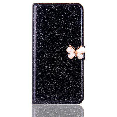 Butterfly Bling Leather Kickstand Case for iPhone 7 Plus