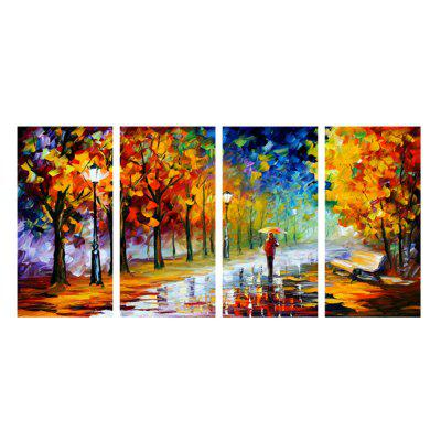 Oil Painting Rainy Day Wall Sticker