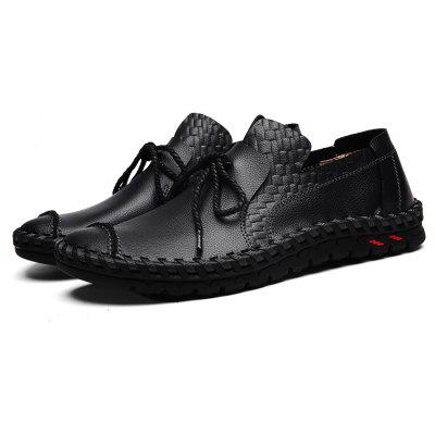 Genuine Leather Loafers Casual ShoesCasual Shoes<br>Genuine Leather Loafers Casual Shoes<br><br>Contents: 1 x Pair of Shoes<br>Materials: Genuine Leather, PU, Rubber<br>Occasion: Casual<br>Package Size ( L x W x H ): 33.00 x 22.00 x 11.00 cm / 12.99 x 8.66 x 4.33 inches<br>Package weight: 0.8610 kg<br>Pattern Type: Solid<br>Product weight: 0.6000 kg<br>Seasons: Spring<br>Style: Leisure, Fashion, Comfortable, Casual<br>Type: Casual Shoes<br>Upper Material: Genuine Leather