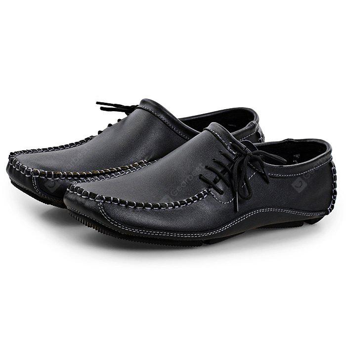 Shoes Men's Shoes Ingenious Men Shoes Genuine Leather Loafers Shoes Cow Leather Loafers Round Head Breathable Solid Casual Shoes Set Of Feet Rubber Shoes
