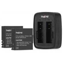 ThiEYE Dual Battery Charger with Two 1100mAh Batteries