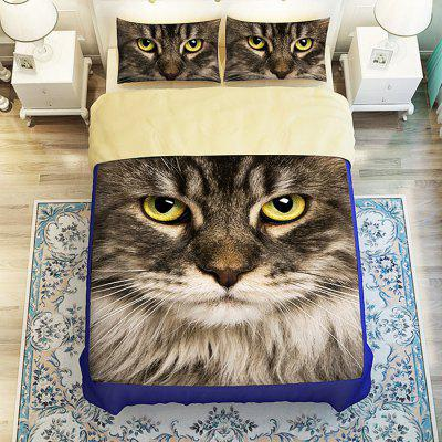 Buy COLORMIX 4-piece Polyester Bedding Set Persian Cat Pattern for $73.51 in GearBest store