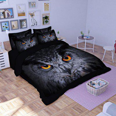 Buy COLORMIX 5-piece Polyester Bedding Set Owl Pattern for $83.31 in GearBest store