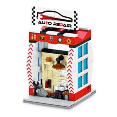 Sembo Street View Auto Repair Shop Building Blocks Toy
