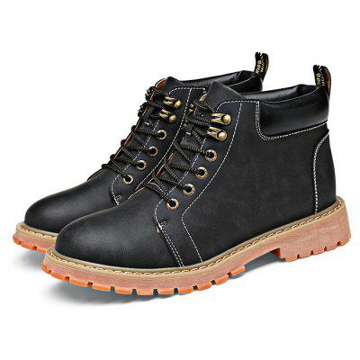 Men Fashion Microfiber Leather Short Boots