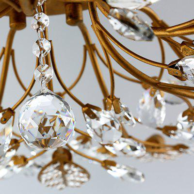 LightMyself YQ6626 - 15 Leaf Crystal 15 G9 Bases Ceiling LightChandelier<br>LightMyself YQ6626 - 15 Leaf Crystal 15 G9 Bases Ceiling Light<br><br>Brand: LightMyself<br>Illumination Field: 25-45sqm<br>Package Contents: 1 x Ceiling Light, 1 x Acessory Kit<br>Package size (L x W x H): 46.00 x 44.00 x 24.00 cm / 18.11 x 17.32 x 9.45 inches<br>Package weight: 6.0200 kg<br>Product size (L x W x H): 90.00 x 90.00 x 20.00 cm / 35.43 x 35.43 x 7.87 inches<br>Product weight: 5.0000 kg<br>Sheathing Material: Crystal, Iron<br>Type: Ceiling Lights<br>Voltage (V): AC 110-120V