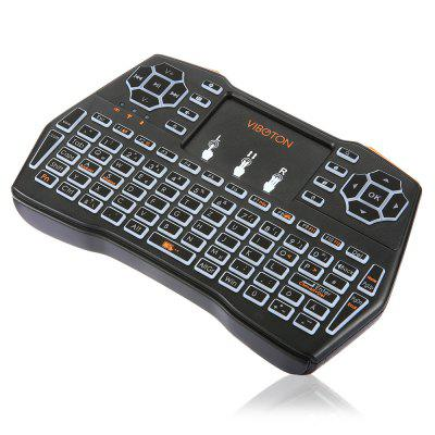 VIBOTON i8 Plus Wireless Keyboard Backlight VersionAir Mouse<br>VIBOTON i8 Plus Wireless Keyboard Backlight Version<br><br>Battery Capacity (mAh): 1020mAh<br>Brand: Viboton<br>Charging Time: About 2 Hours<br>Connection Type: 2.4GHz Wireless<br>Interface: USB 2.0<br>Model: i8 Plus<br>Package size: 19.40 x 11.00 x 2.80 cm / 7.64 x 4.33 x 1.1 inches<br>Package weight: 0.2100 kg<br>Packing List: 1 x Handheld Wireless Keyboard, 1 x USB Cable, 1 x USB Receiver<br>Powered by: Lithium Battery<br>Product Features: Remote Controller, Air Mouse, Ergonomic, Gaming<br>Product size: 14.60 x 8.10 x 1.30 cm / 5.75 x 3.19 x 0.51 inches<br>Product weight: 0.1050 kg<br>Suitable for: Andriod TV Box, XBOX360, PC, Pad, Android TV, Google TV Box