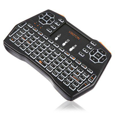 VIBOTON i8 Plus Wireless Keyboard Backlight VersionAir Mouse<br>VIBOTON i8 Plus Wireless Keyboard Backlight Version<br><br>Battery Capacity (mAh): 1020mAh, 1020mAh<br>Brand: Viboton<br>Charging Time: About 2 Hours, About 2 Hours<br>Connection Type: 2.4GHz Wireless<br>Interface: USB 2.0<br>Model: i8 Plus<br>Package size: 19.40 x 11.00 x 2.80 cm / 7.64 x 4.33 x 1.1 inches, 19.40 x 11.00 x 2.80 cm / 7.64 x 4.33 x 1.1 inches<br>Package weight: 0.2100 kg, 0.2100 kg<br>Packing List: 1 x Handheld Wireless Keyboard, 1 x USB Cable, 1 x USB Receiver, 1 x Handheld Wireless Keyboard, 1 x USB Cable, 1 x USB Receiver<br>Powered by: Lithium Battery<br>Product Features: Remote Controller, Air Mouse, Ergonomic, Gaming<br>Product size: 14.60 x 8.10 x 1.30 cm / 5.75 x 3.19 x 0.51 inches, 14.60 x 8.10 x 1.30 cm / 5.75 x 3.19 x 0.51 inches<br>Product weight: 0.1050 kg, 0.1050 kg<br>Suitable for: Android TV, Google TV Box, Pad, PC, XBOX360, PC, Pad, XBOX360, Google TV Box, Android TV, Andriod TV Box, Andriod TV Box