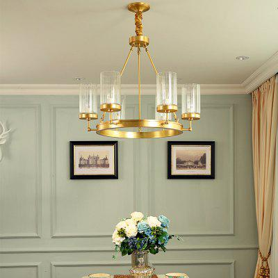 Buy COPPER COLOR ZGPAX DJB1030 Round Shape Copper Pendant Light 220V for $582.36 in GearBest store