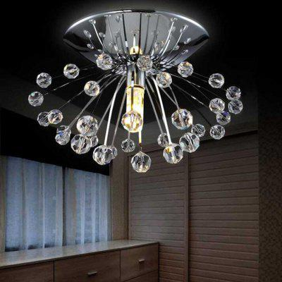 Creative Mini Crystal LED ChandelierPendant Light<br>Creative Mini Crystal LED Chandelier<br><br>Battery Included: No<br>Bulb Base: G9<br>Bulb Included: No<br>Chain / Cord Adjustable or Not: Chain / Cord Not Adjustable<br>Chain / Cord Length ( CM ): 0<br>Features: Crystal<br>Fixture Height ( CM ): 7<br>Fixture Length ( CM ): 15<br>Fixture Width ( CM ): 15<br>Light Direction: Downlight<br>Number of Bulb: 1 Bulb<br>Number of Bulb Sockets: 1<br>Package Contents: 1 x Chandelier<br>Package size (L x W x H): 18.00 x 18.00 x 10.00 cm / 7.09 x 7.09 x 3.94 inches<br>Package weight: 0.4500 kg<br>Product weight: 0.2500 kg<br>Shade Material: Crystal, Stainless Steel<br>Style: Modern/Contemporary<br>Suggested Room Size: 10 - 15?<br>Suggested Space Fit: Bedroom,Dining Room,Living Room,Study Room<br>Type: Chandeliers<br>Voltage ( V ): 110V
