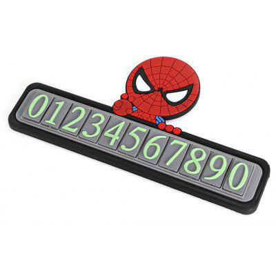 Cartoon Vehicles Temporary Luminous Parking Phone Number Card