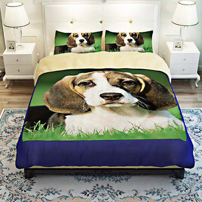 Buy COLORMIX 4-piece Polyester Bedding Set Pet Dog Pattern for $73.51 in GearBest store