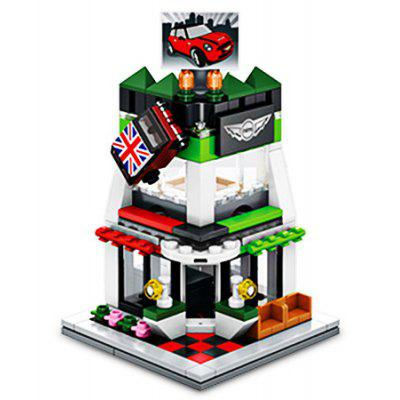 Sembo Building Blocks Educational Street View 4S Car Shop Toy