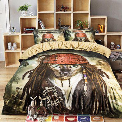 Buy COLORMIX 4-piece Polyester Bedding Set Pirate Pattern for $71.12 in GearBest store