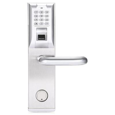 GRT 903 Fingerprint Password Intelligent Card Door LockAccess Control<br>GRT 903 Fingerprint Password Intelligent Card Door Lock<br><br>Package Contents: 1 x Fingerprint Door Lock, 1 x Back Plate, 1 x Mortise with Latch and Deadbolt, 2 x Mechanical Key, 1 x Strike Plate, 1 x Strike Box, 1 x Installation Kit, 1 x English User Manual<br>Package size: 40.00 x 17.50 x 23.00 cm / 15.75 x 6.89 x 9.06 inches<br>Package weight: 3.6100 kg<br>Product size: 30.30 x 7.70 x 3.30 cm / 11.93 x 3.03 x 1.3 inches<br>Product weight: 1.7900 kg