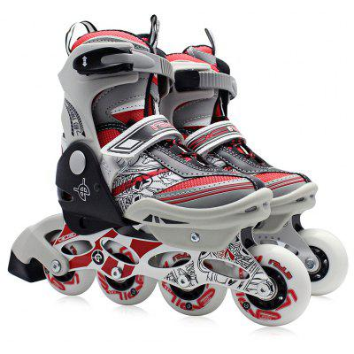 Buy RED L AODESAI Pair of Kids Racing Single Row Roller Skating Shoes for $65.46 in GearBest store
