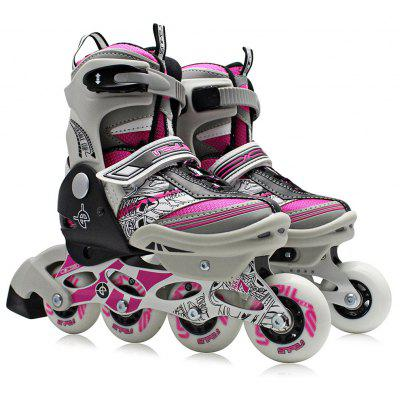 Buy PINK L AODESAI Pair of Kids Racing Single Row Roller Skating Shoes for $65.46 in GearBest store