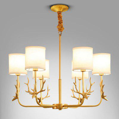 Buy COPPER COLOR ZGPAX DJB1023 Antler Copper E14 Base Pendant Light 220V for $549.68 in GearBest store