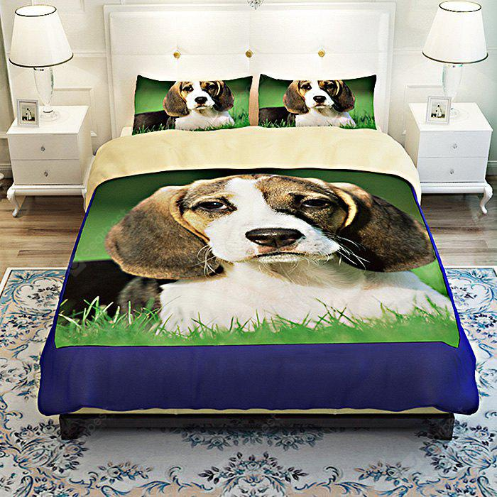 COLORMIX 4-piece Polyester Bedding Set Pet Dog Pattern